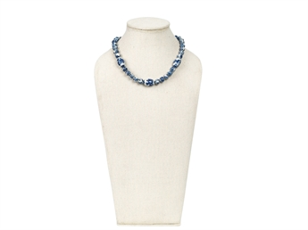 Picture of Necklace Lingling white/blue beads, L48