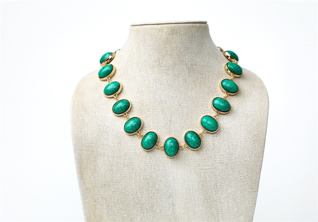 Picture of Necklace Amira, green