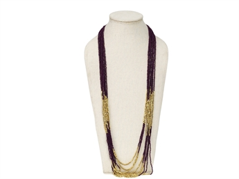 Picture of Necklace Vanessa, purple/gold