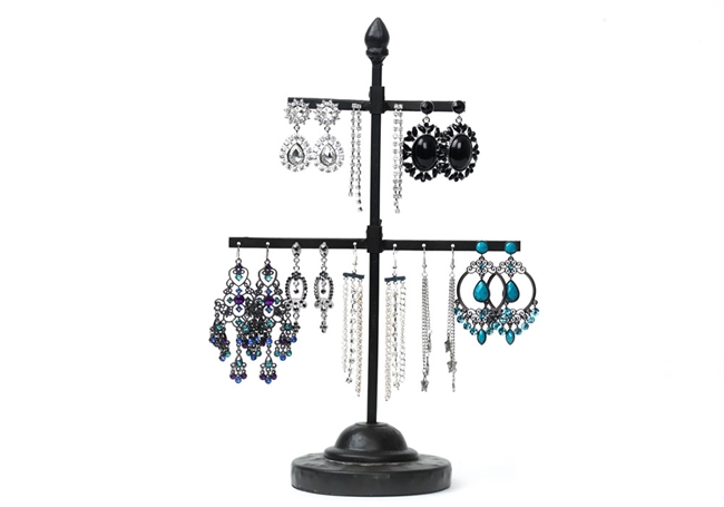 Picture of Metal ear ring stand H40 Rusty