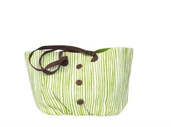 Picture of Shoulder bag Bristol striped, green/white