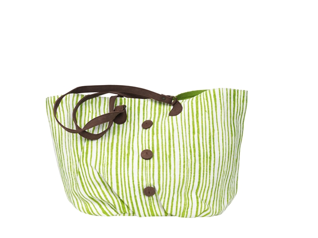 Picture of Shoulder bag Bristol striped, green/white