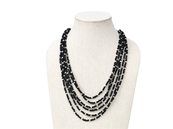 Picture of Necklace Costes, black/silver