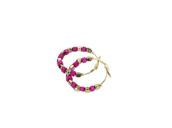 Picture of Earring Polkadot, fushia