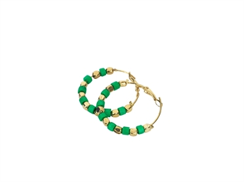 Picture of Earring Polkadot, green