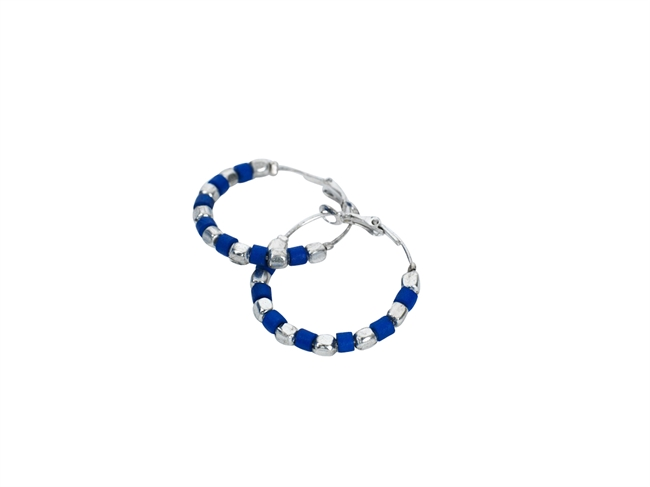 Picture of Earring Polkadot, blue