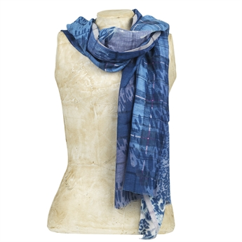 Picture of Scarf Grasse, blue mix