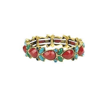 Picture of Bracelet Vanessa, red mix