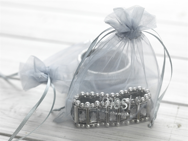 Picture of Organza pouch (grey) 12*17 cm