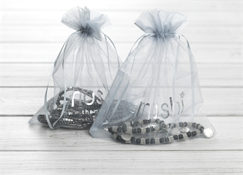 Picture of Organza pouch (grey) 19,5*22,5 cm