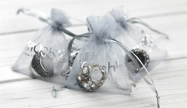 Picture of Organza pouch (grey) 7*9 cm