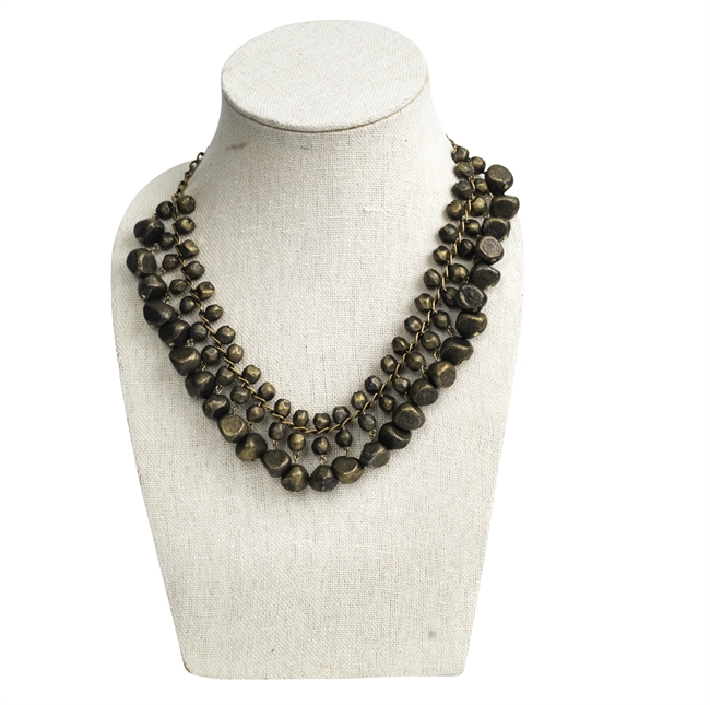 Picture of Necklace Afrodite, goldish black