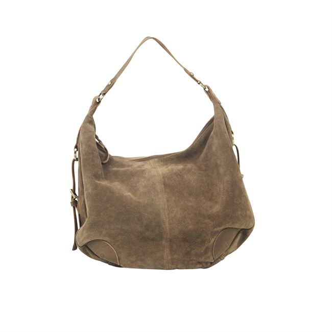 Picture of Shoulder bag Jessica suede, tobacco