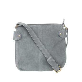 Picture of Shoulder bag Ritz suede, dk grey