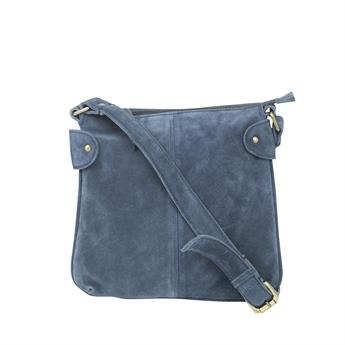 Picture of Shoulder bag Ritz suede, navy