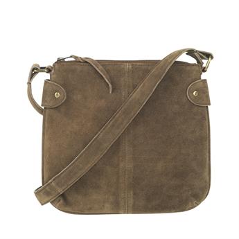 Picture of Shoulder bag Ritz suede, tobacco
