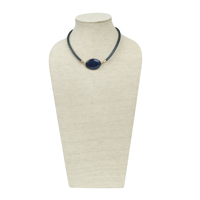 Picture of Necklace Kitty, metallic blue