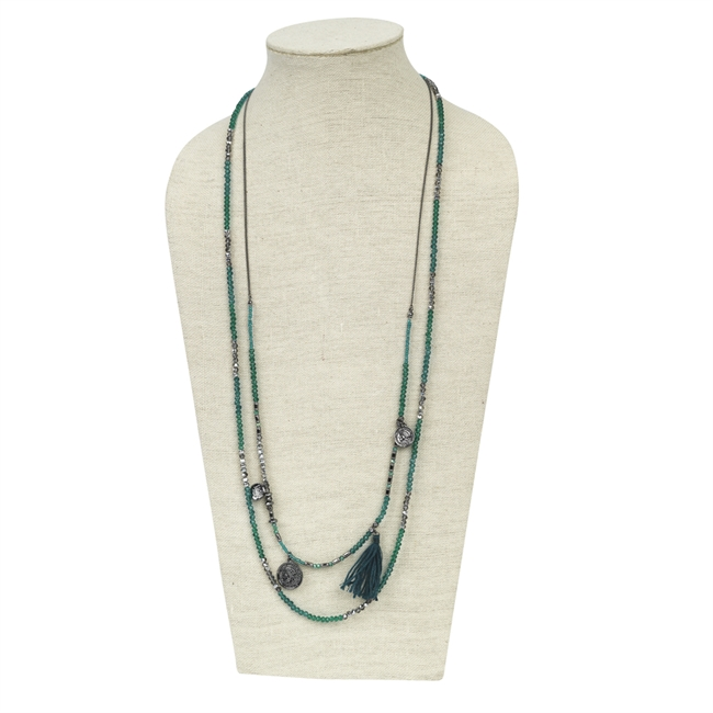 Picture of Necklace Inez, teal