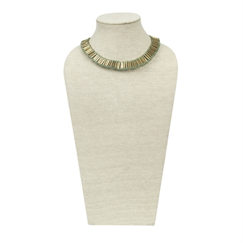 Picture of Necklace Bardot, sky blue/ant gold