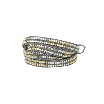 Picture of Bracelet Rebecca, grey/gold/silver mix
