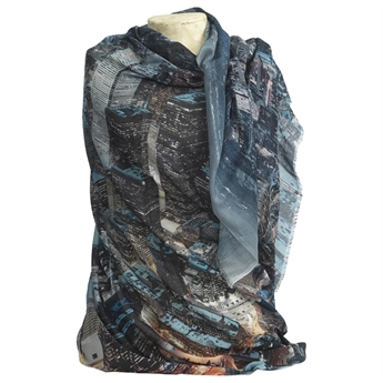 Picture of Scarf Pauline, blue/black