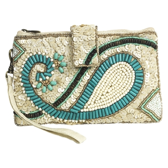 Picture of Cellphone cover Inez, ivory/turquoise
