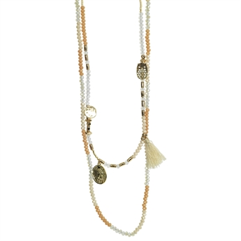 Picture of Necklace Inez, ivory/rose