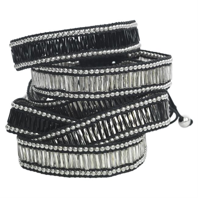 Picture of Bracelet Rain, black/silver mix