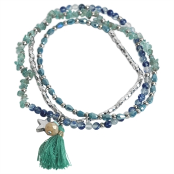 Picture of Bracelet/necklace Mia, blue mix