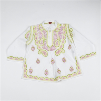Picture of Tunic Penelope, embroidered white