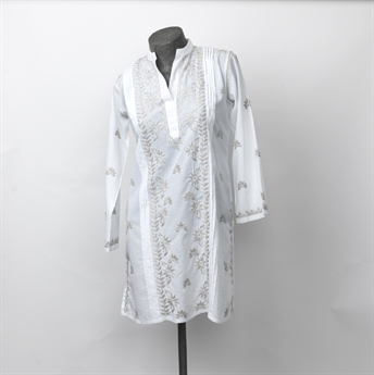 Picture of Tunic Kinsley, embroidered white/grey