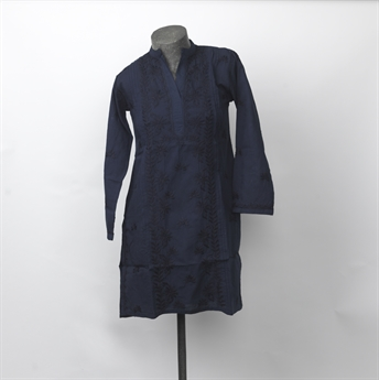 Picture of Tunic Kinsley, embroidered navy