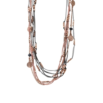 Picture of Necklace Nadia, grey mix