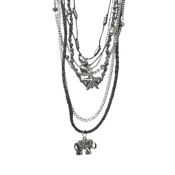 Picture of Necklace Aisha, gun metal mix