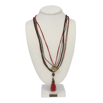 Picture of Necklace Heidi, red mix