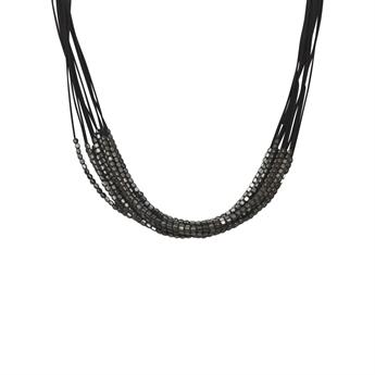 Picture of Necklace Isa, gun metal/black