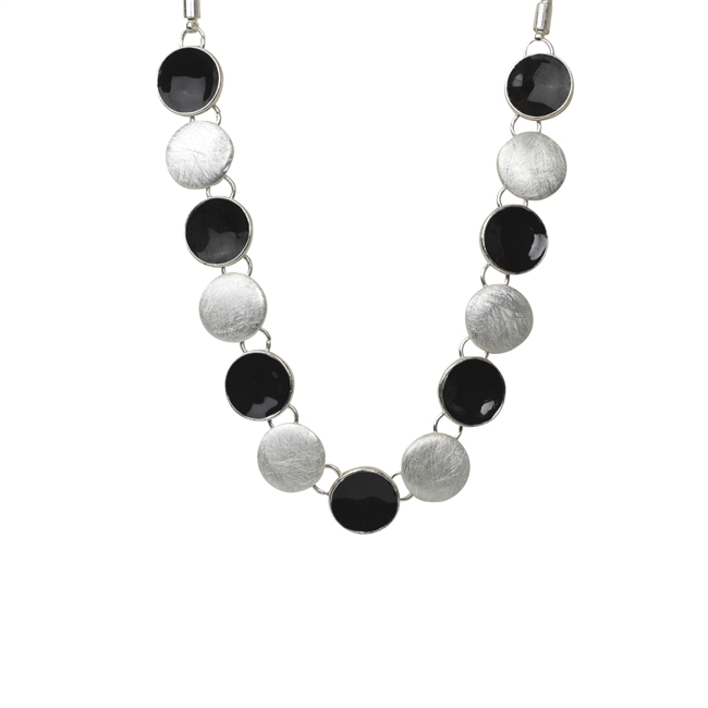 Picture of Necklace Hailey, silver/black