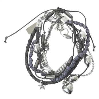 Picture of Bracelet Aisha, gun metal mix