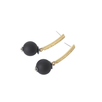 Picture of Earring Irma, black/gold