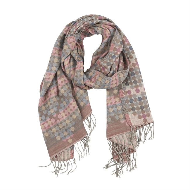 Picture of Scarf Heidi, beige/pink