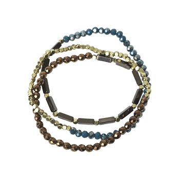 Picture of Bracelet/necklace Beata, amber mix