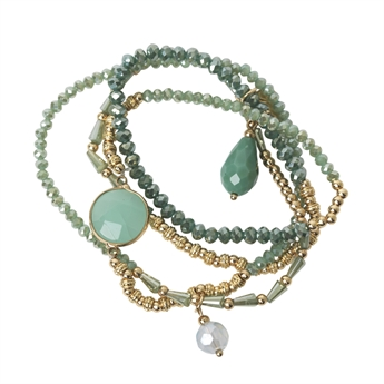 Picture of Bracelet/necklace Elisa, turquoise mix