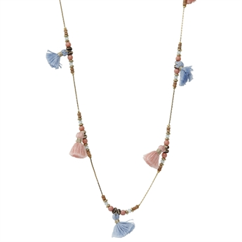 Picture of Necklace Elaine, lt pink/blue