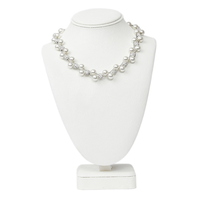 Picture of Necklace Agatha, white