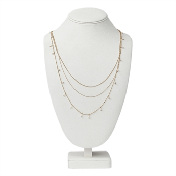 Picture of Necklace Laura, gold w pearl