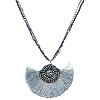Picture of Necklace Ibiza, lt blue