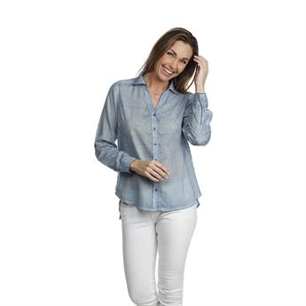 Picture of Shirt Fleur, lt blue.