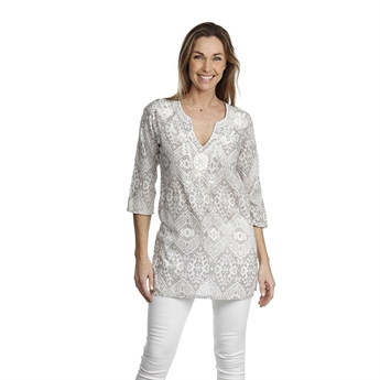 Picture of Tunic Valerie, beige/white
