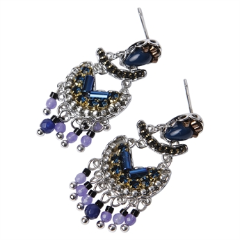 Picture of Earring Vanessa, blue mix