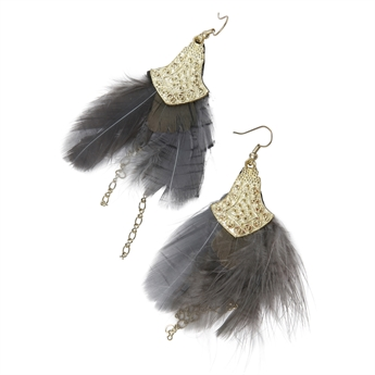 Picture of Earring Trixie, grey